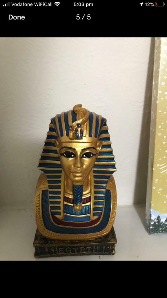Handmade Egyptian statue