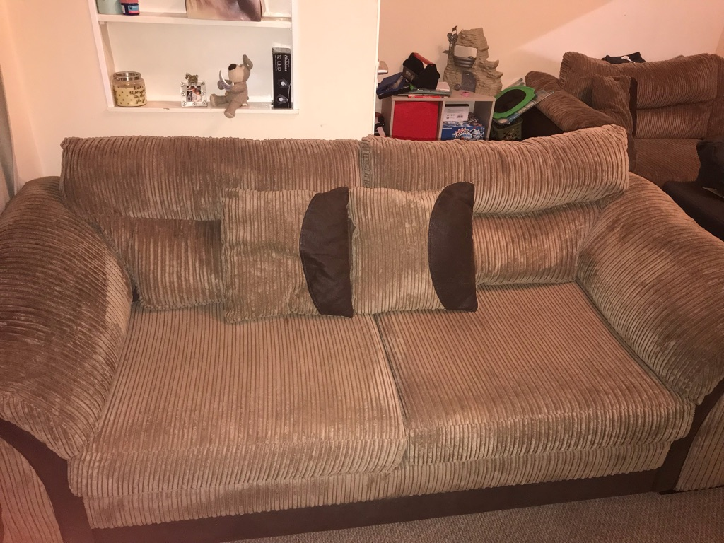 2 x 3 seater sofas