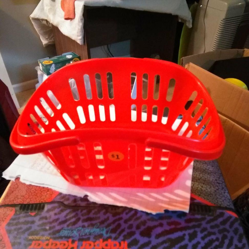 Red basket $1.50