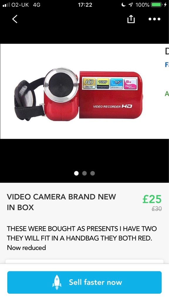 VIDEO CAMERA RED COMPACT