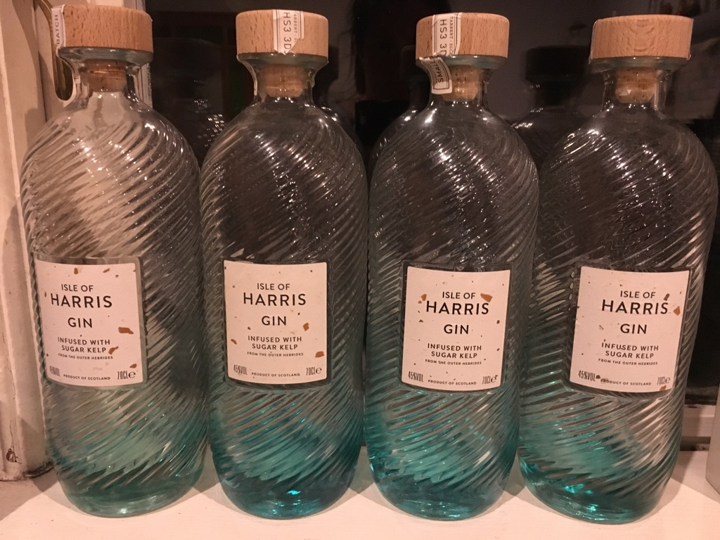 Harris Gin bottles - empty!