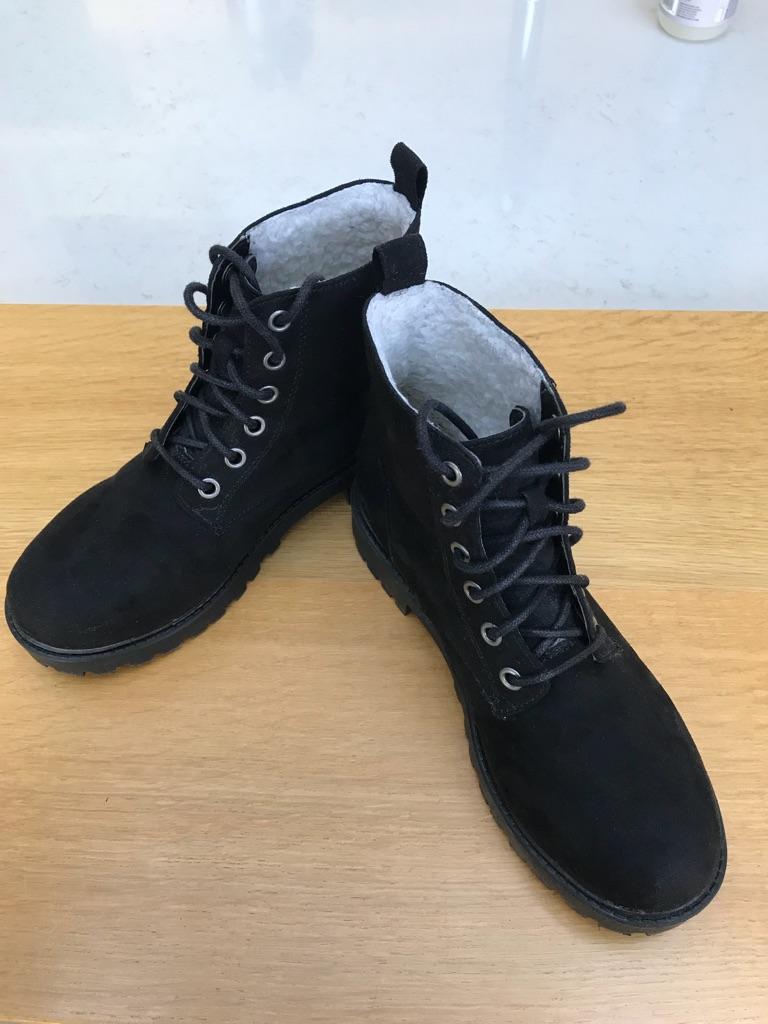 H&M Black Lace Up Boots