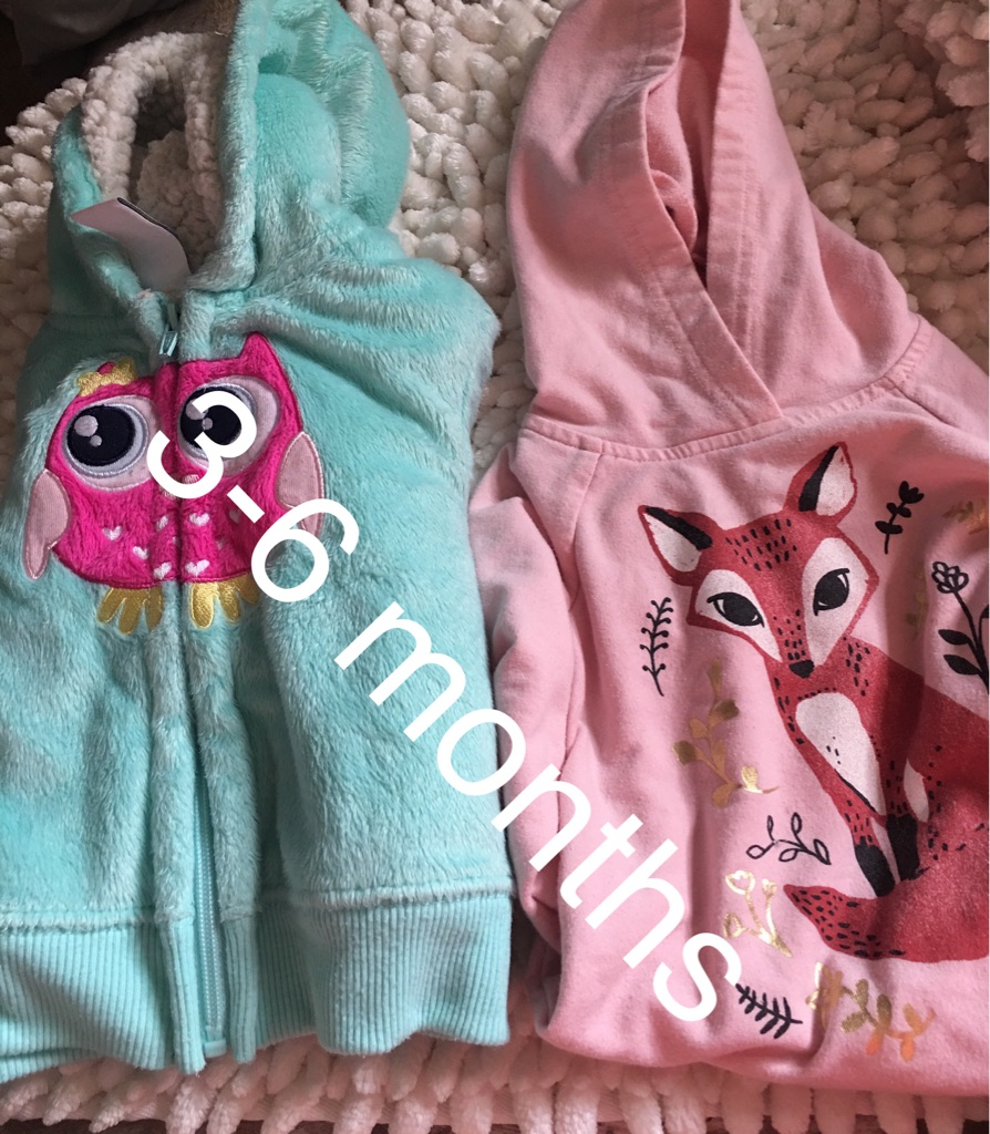 two hooded sweatshirts