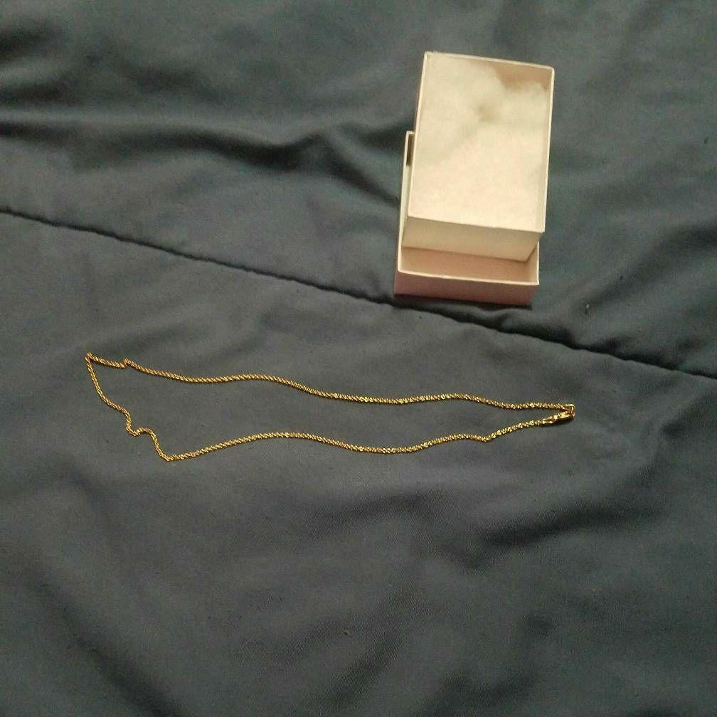 18k gold neckless