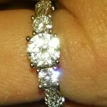 925 silver and cz ring