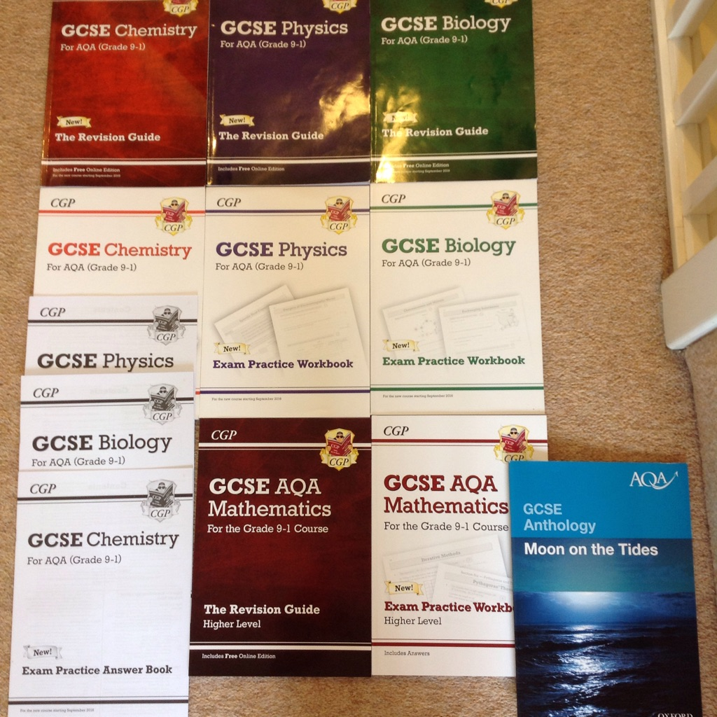 New GCSE revision guides + answer booklets