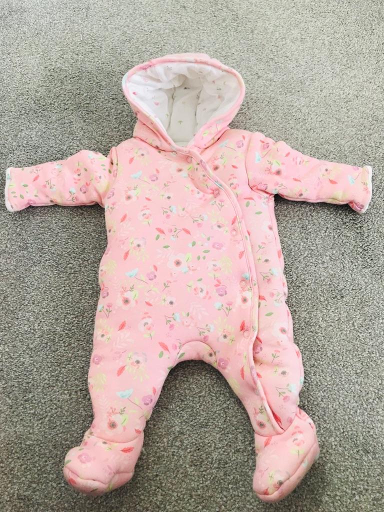Mini Club baby girl newborn pramsuit