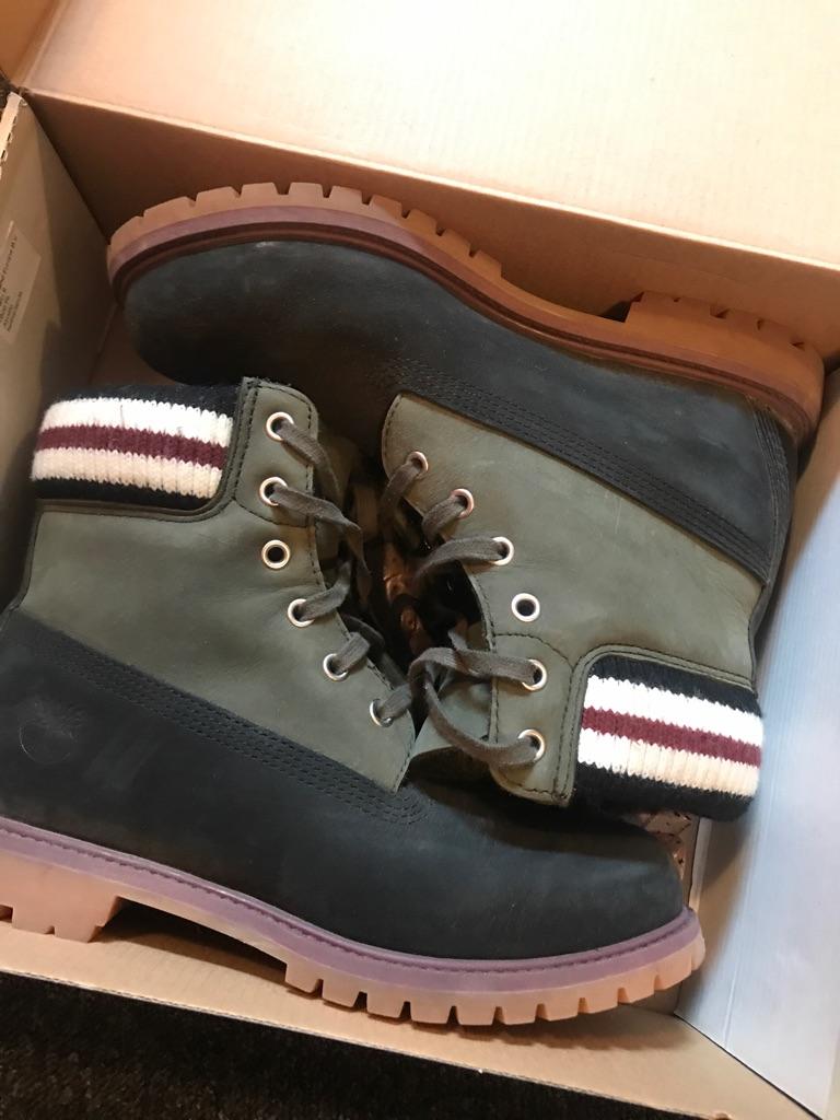 Marni X Timberland limited black&green leather boots UK6.5