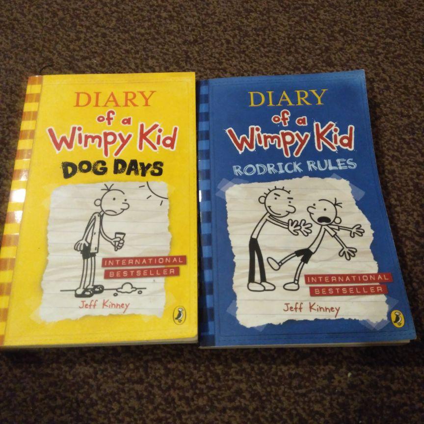 Jeff Kinney books x 4