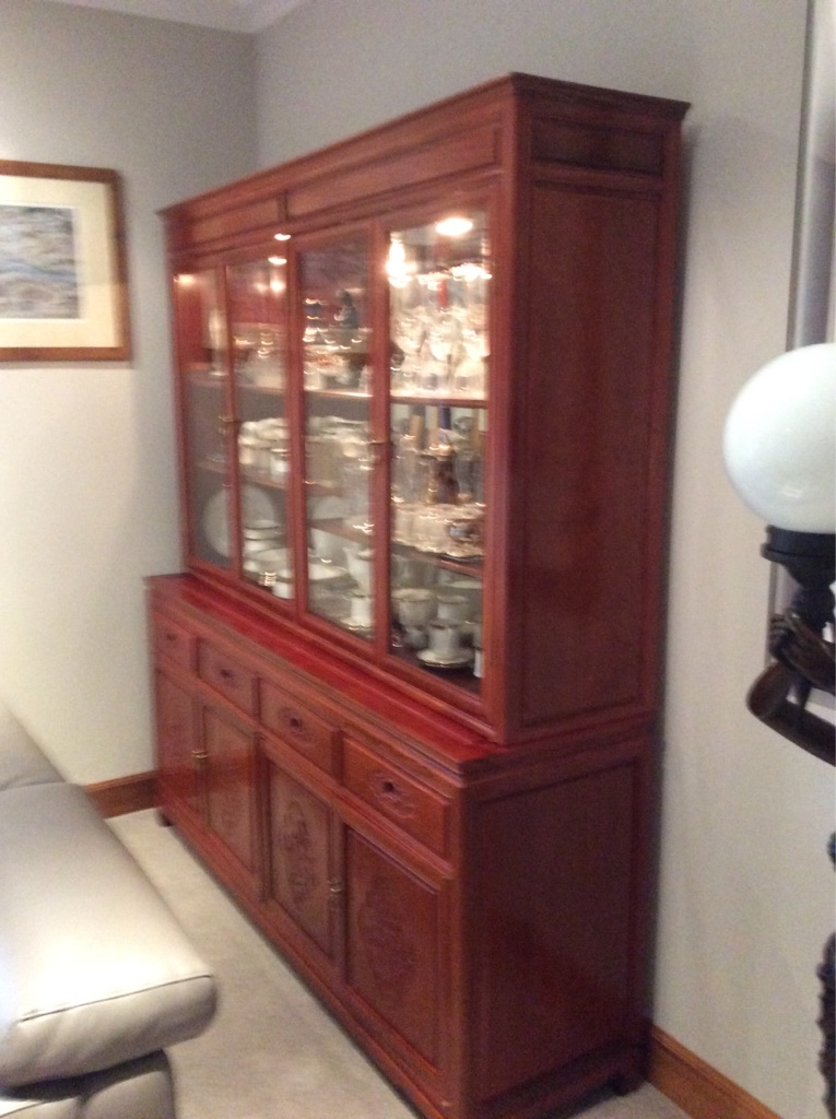 Display cabinet - rosewood.