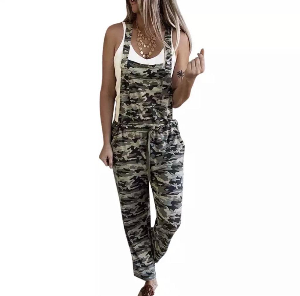 Summer camouflage jumpsuit