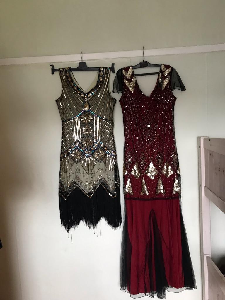 2 1920s' flapper dresses