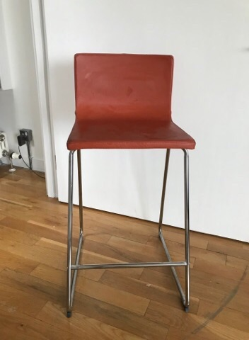Set of 3 leather bar stools - IKEA no longer in production