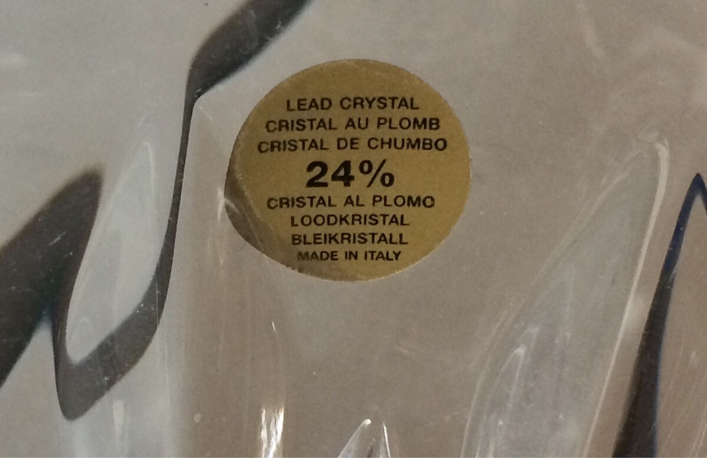 Capri lead crystal bowls