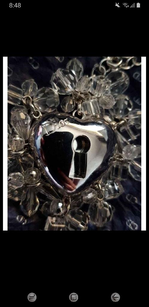 Christian Dior lipgloss charm and bracelet