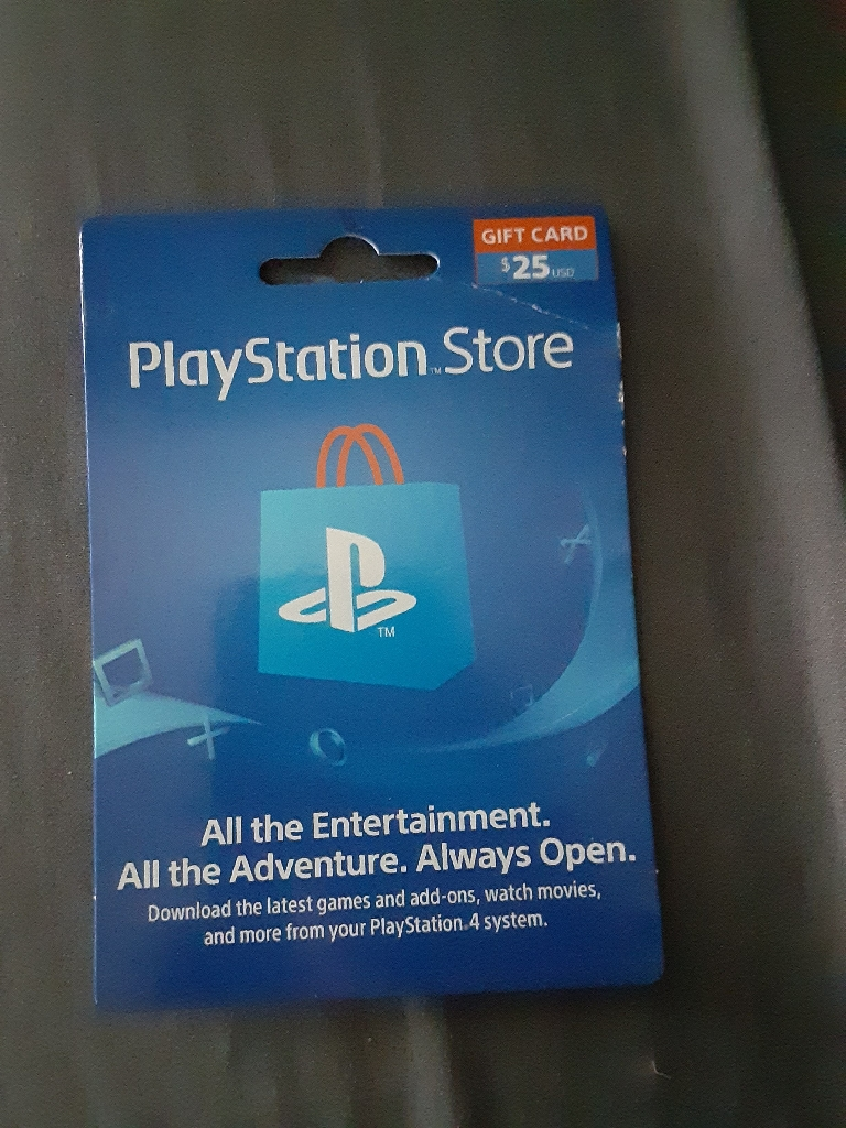 $25 playstation store gift card for $20