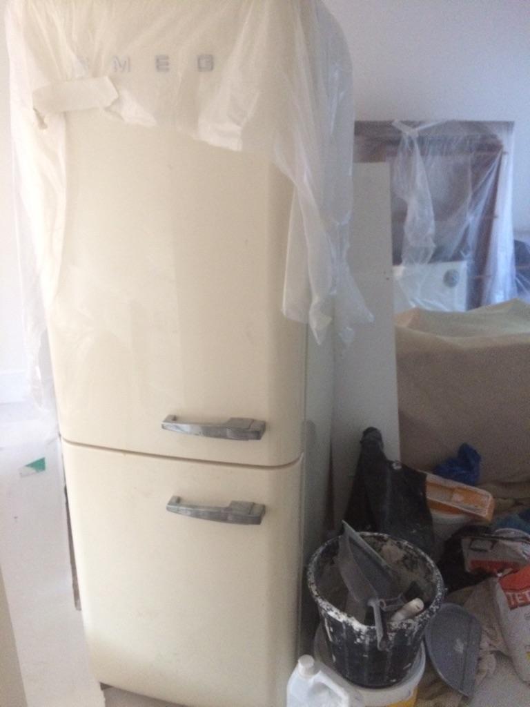 Smeg fridge freezer cream