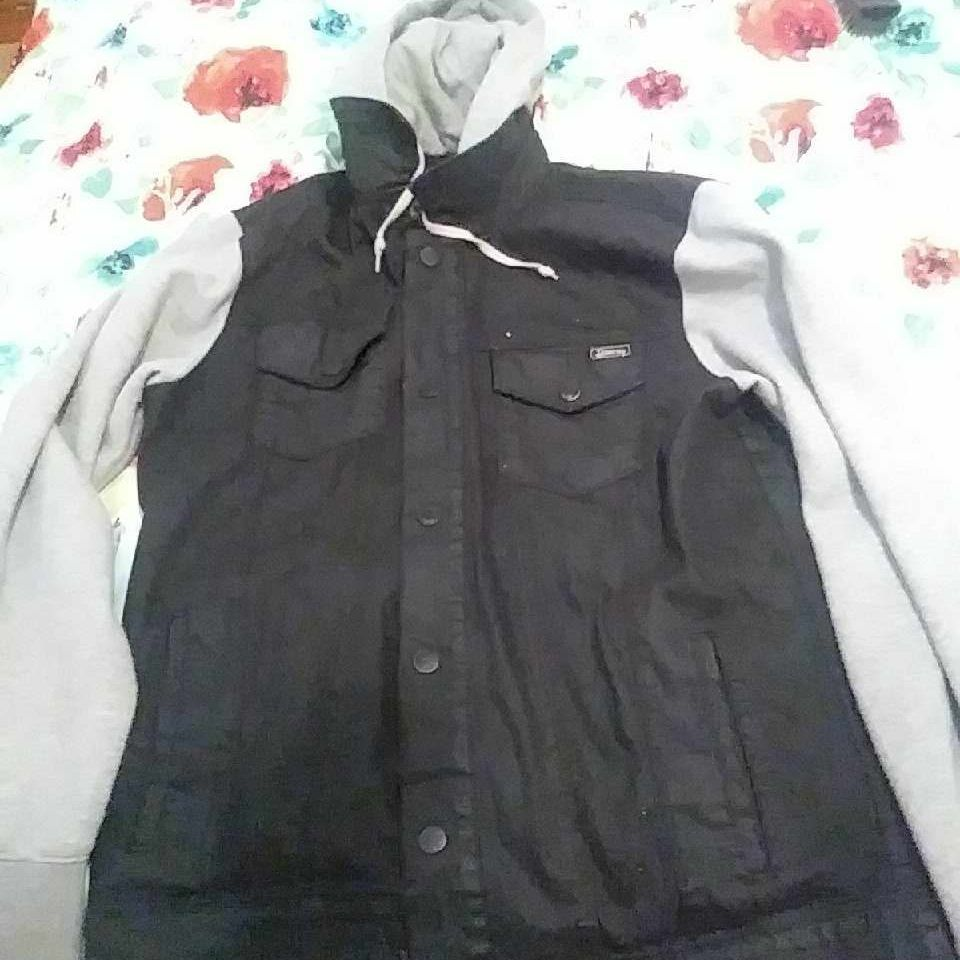 Black and grey jacket mens