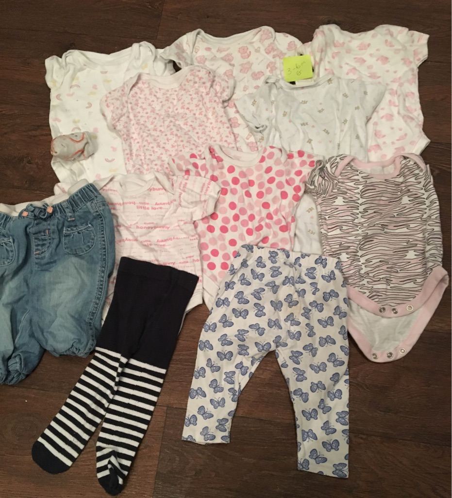 Baby girls 3-6 month clothes bundle