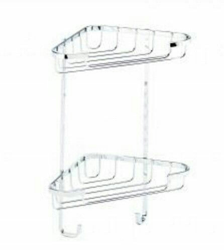 Croydex - Stainless steel small two tier corner basket