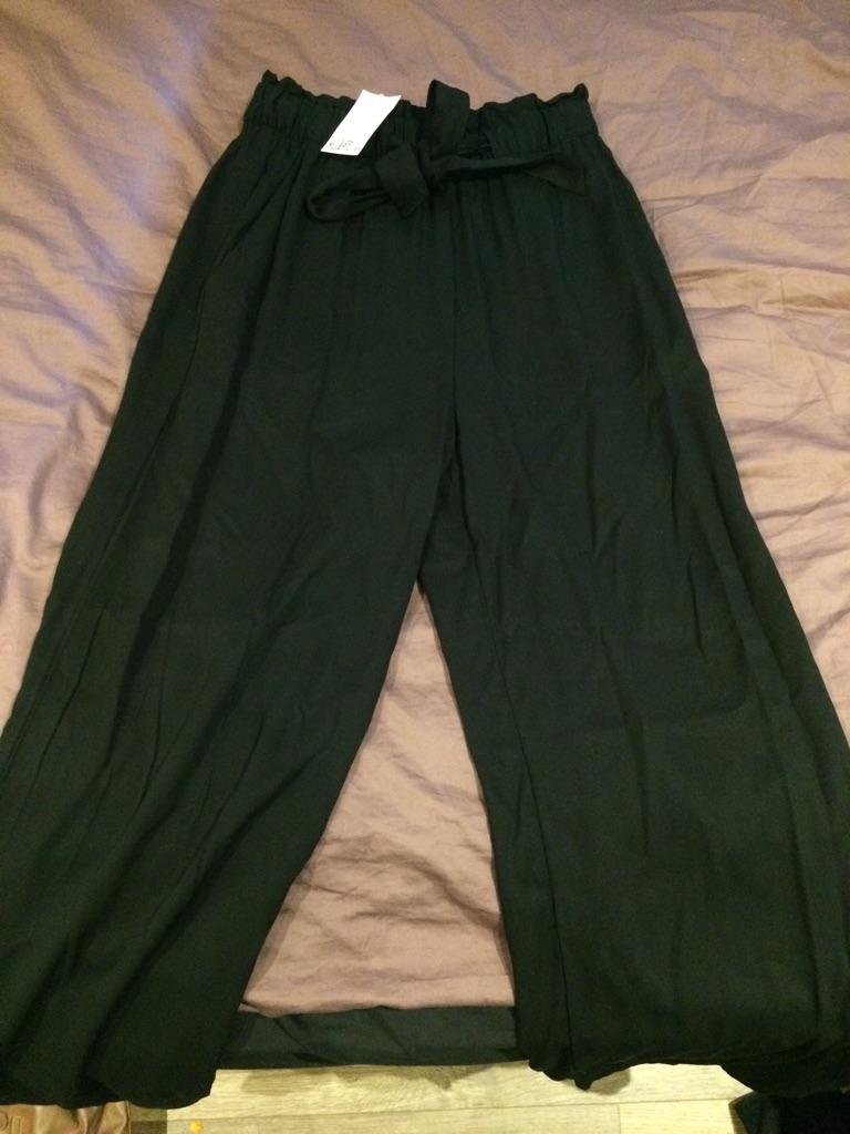 Long wide leg pants