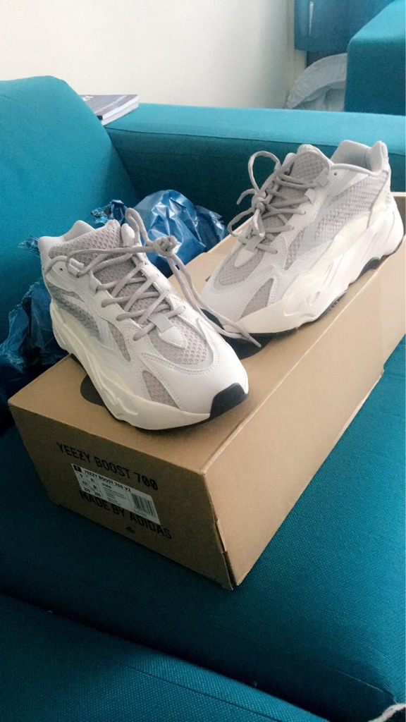 White reflective Yeezy Boost 700's