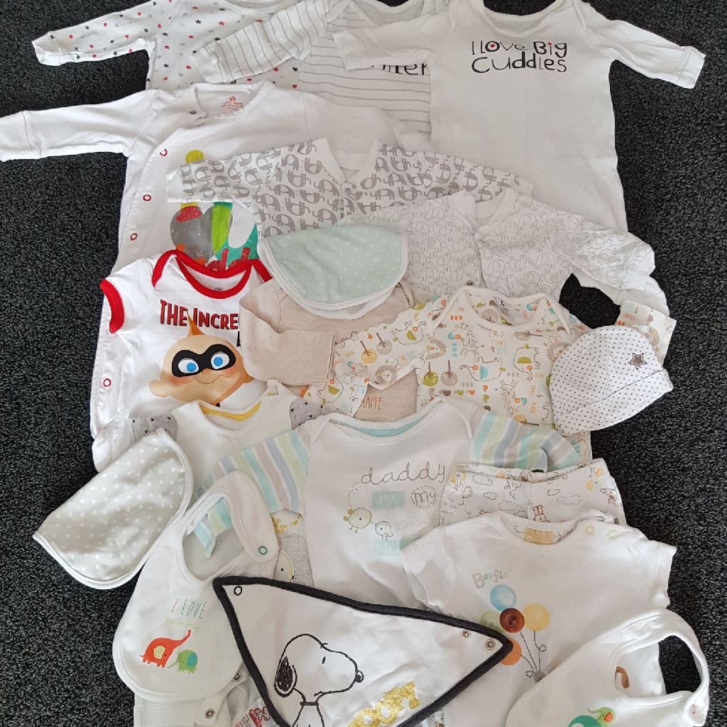 New born and 0-3 month unisex bundle