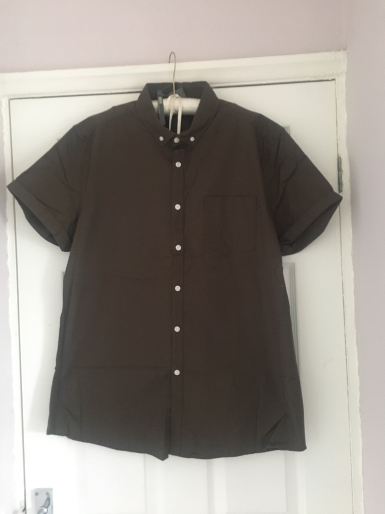ASOS Oxford Khaki Slim Fit Shirt Size XL NWT (postage available)