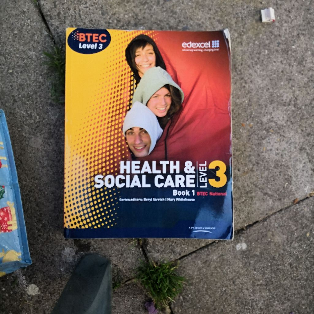 Level 3 extended diploma health and social care book 1.