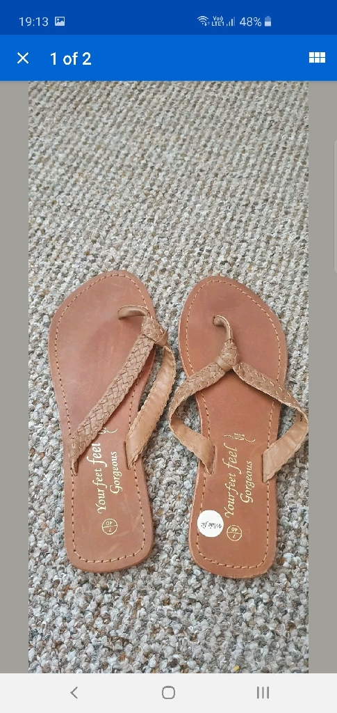 Brown leather wide fit new look sandals. Size 7. Brand new.