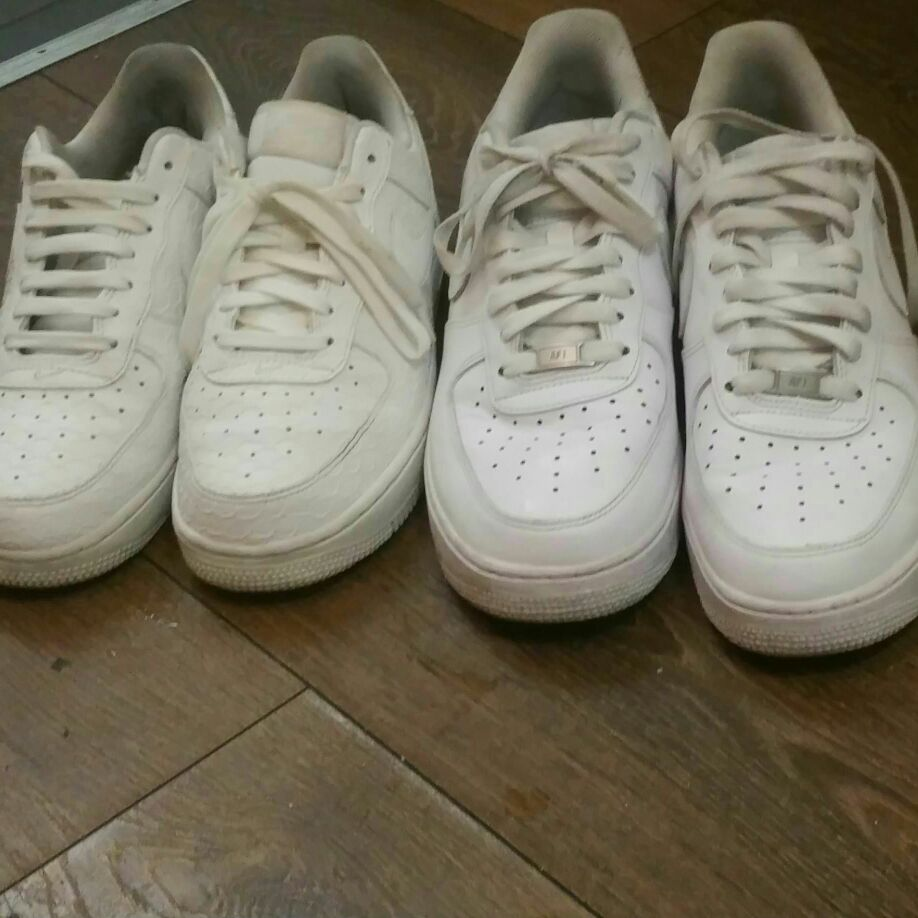 Air force 1s size 6 and 9