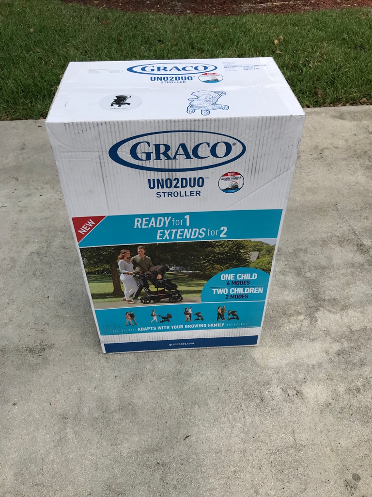 NEVER USED STROLLER, Stills on the Box and Fits 2 Kids