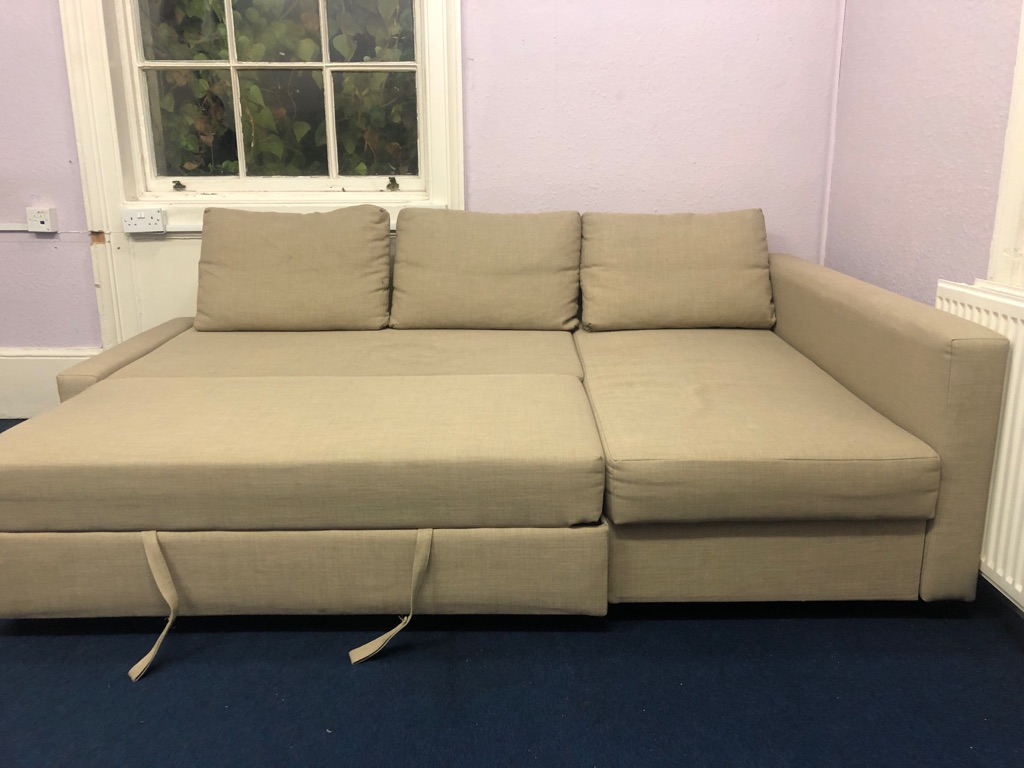 Corner 3 seater sofa bed with storage new £700