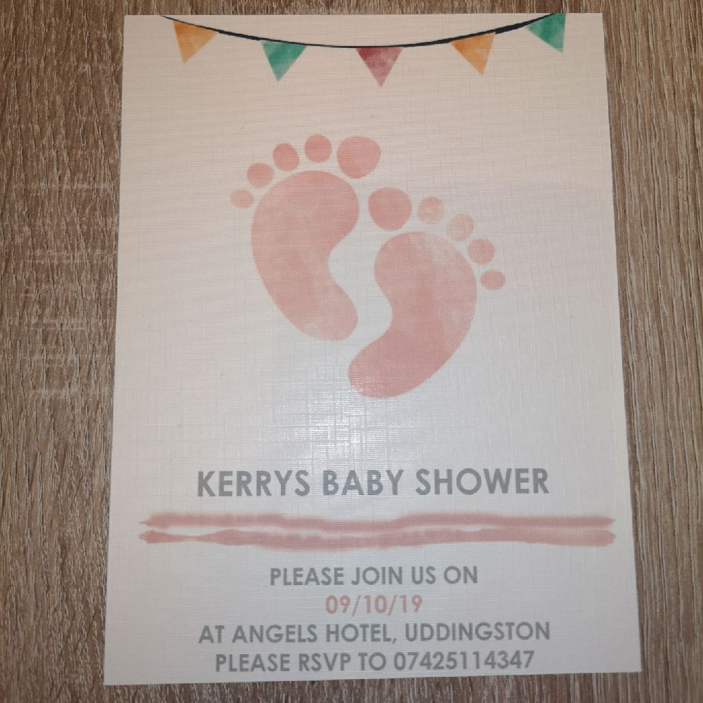 Baby shower or naming day invitation