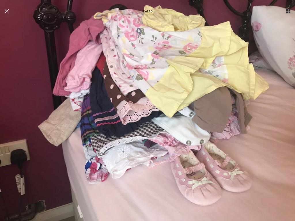 Joblot bundle baby girls girl newborn clothing 0-3 months 3-6 months
