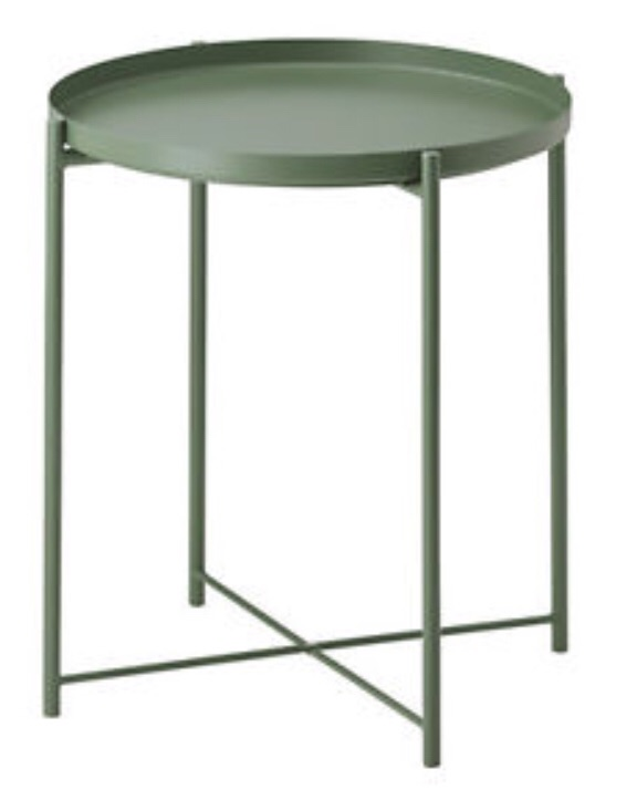 TWO Circle Side Tray Tables - GLADOM (IKEA)