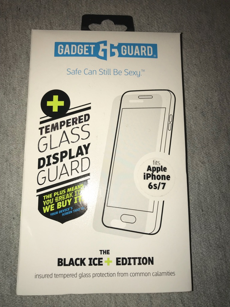 iPhone 7 tempered Glass Black iced Edition
