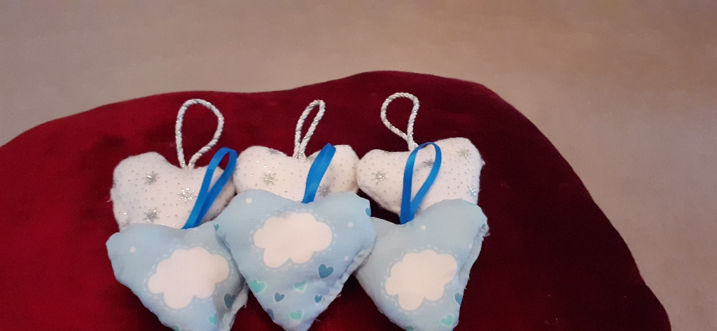 Homemade love hearts in very good condition