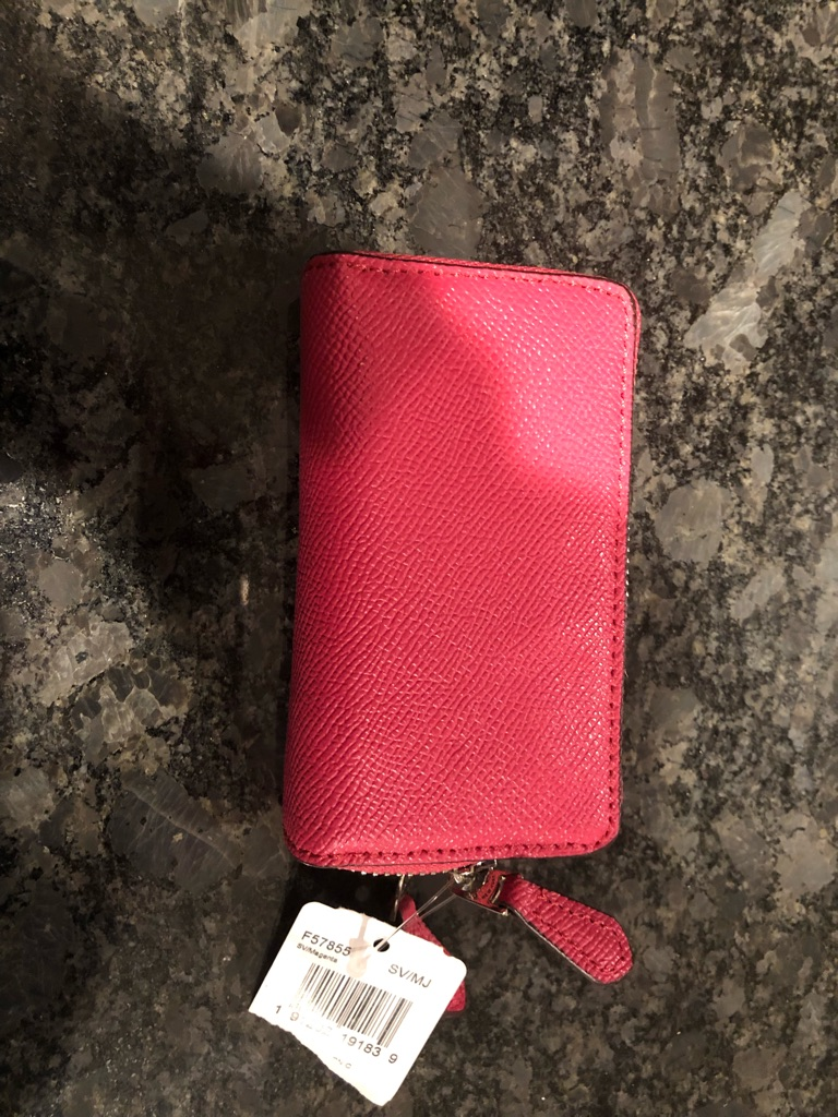 Hot pink coach wallet brand new