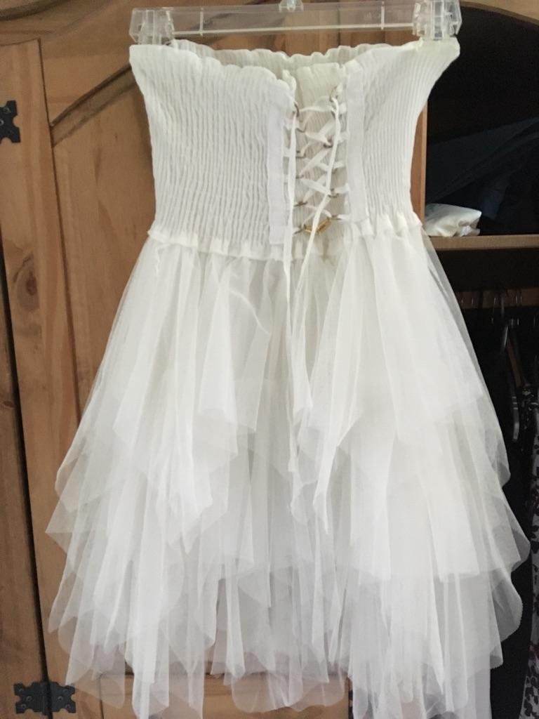 Beautiful white netted top/skirt