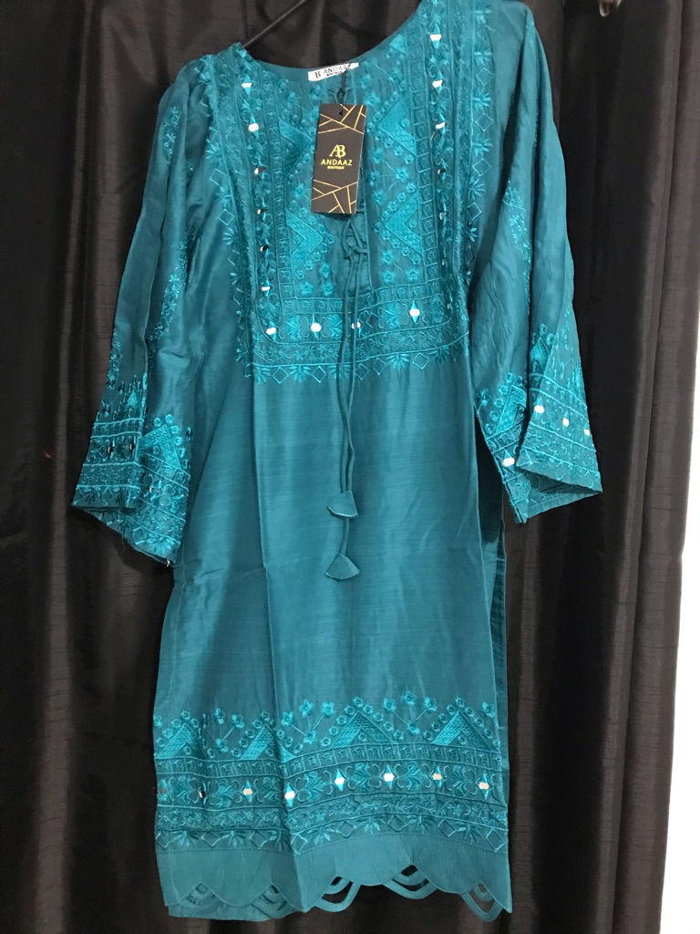 Asian Readymade Viscose Kurta S/m/L Bew with tag