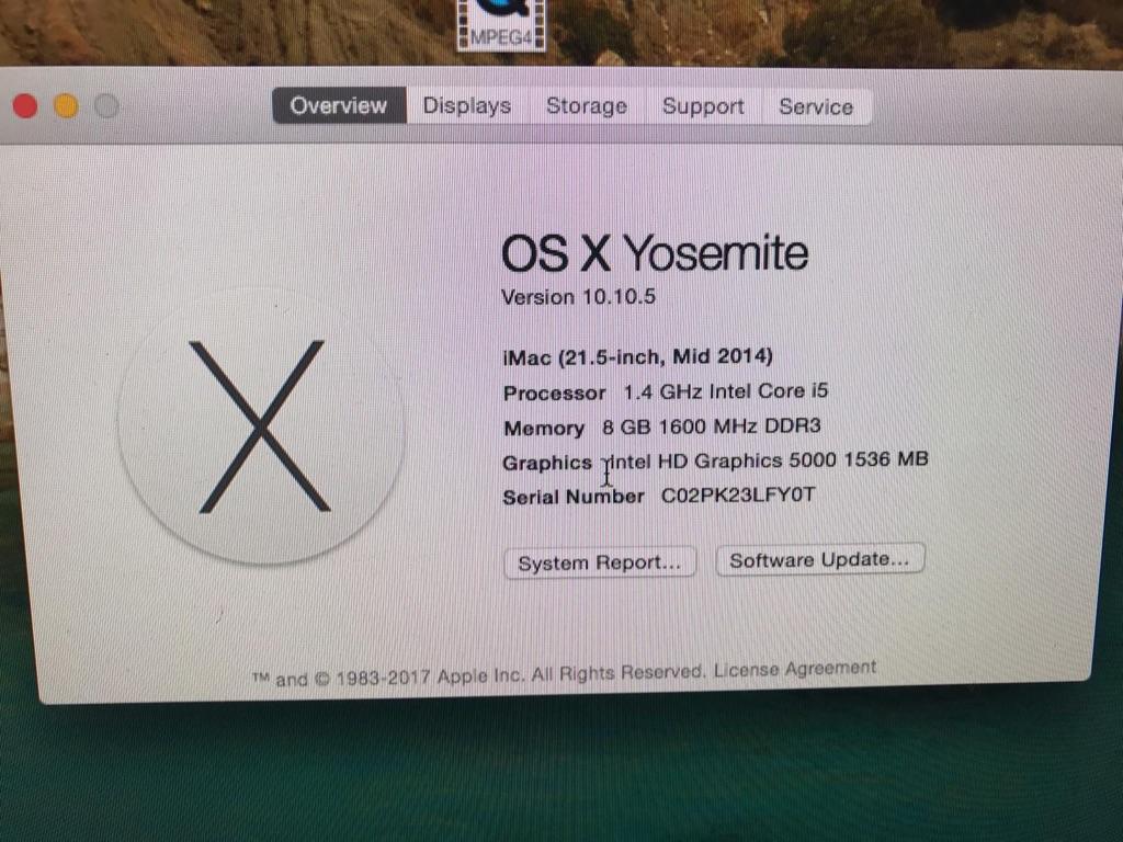 iMac 21.5in 2015
