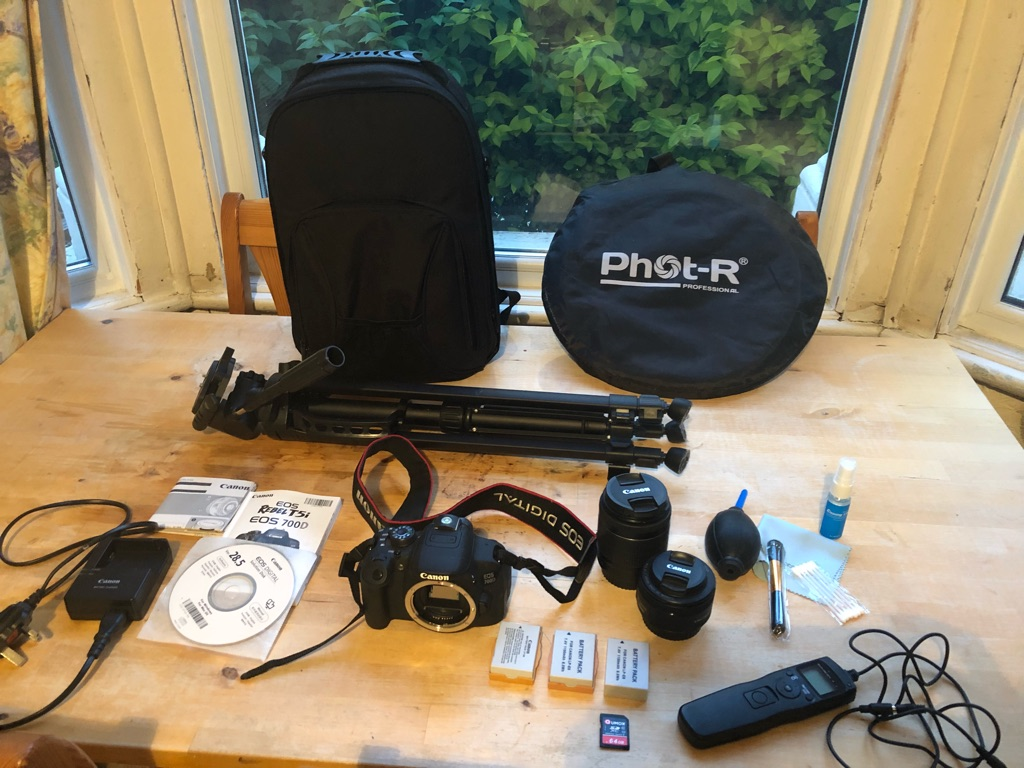 Canon EOS 700D 18.0MP Digital SLR Camera + accessories and two lenses