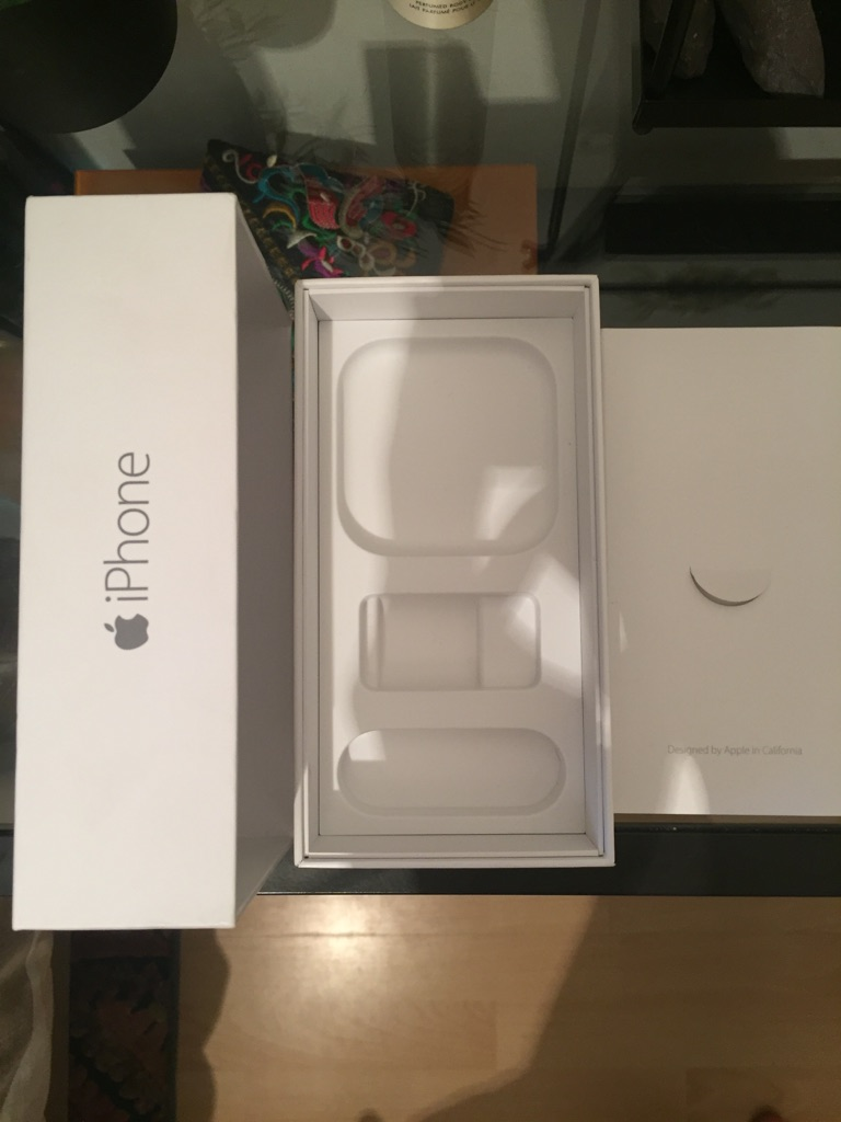 iPhone6 box with stickers and manual
