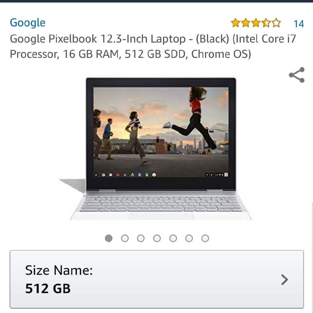 Google pixelbook 512 gb