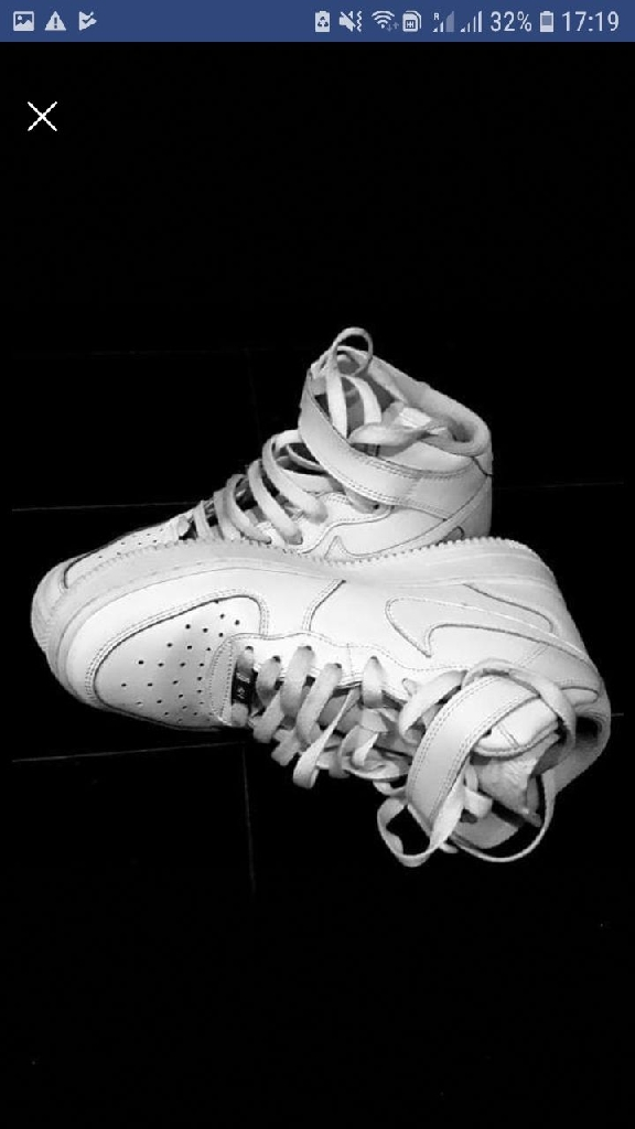 White Nike Air force