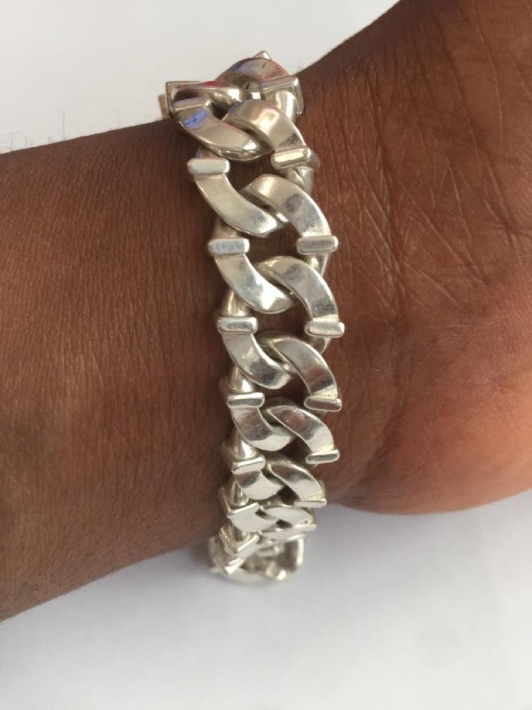 Sterling silver unisex handmade bracelet