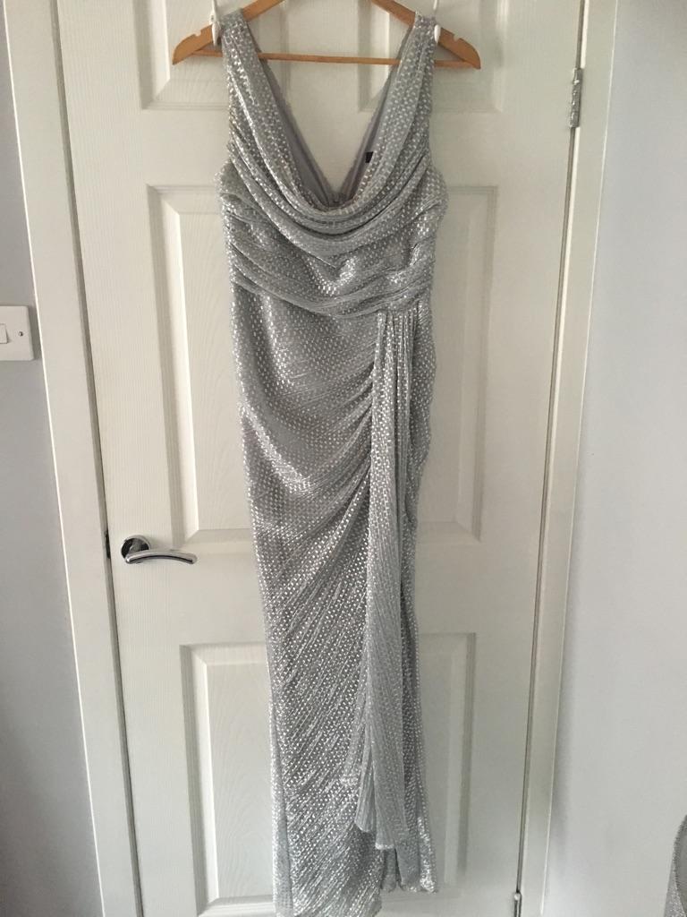 Silver Maxi Dress Size 12
