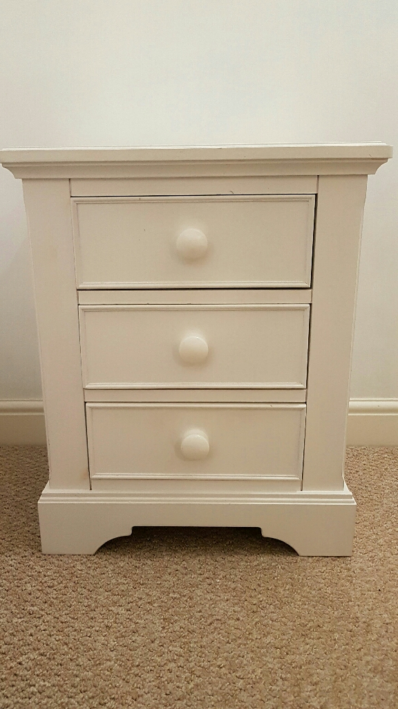 solid white pine bedside cabinets