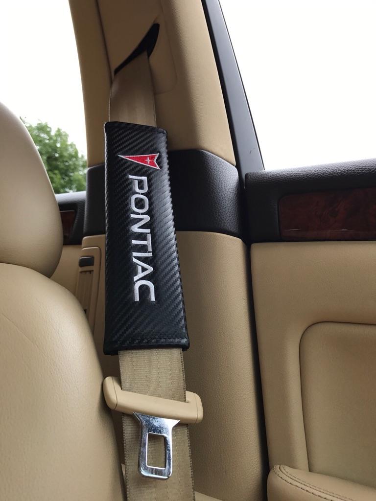 2X Seat Belt Pads Carbon Gift Pontiac Fiero Firebird Trans AM GT 6